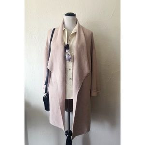 H&M light pink open front knit cardigan